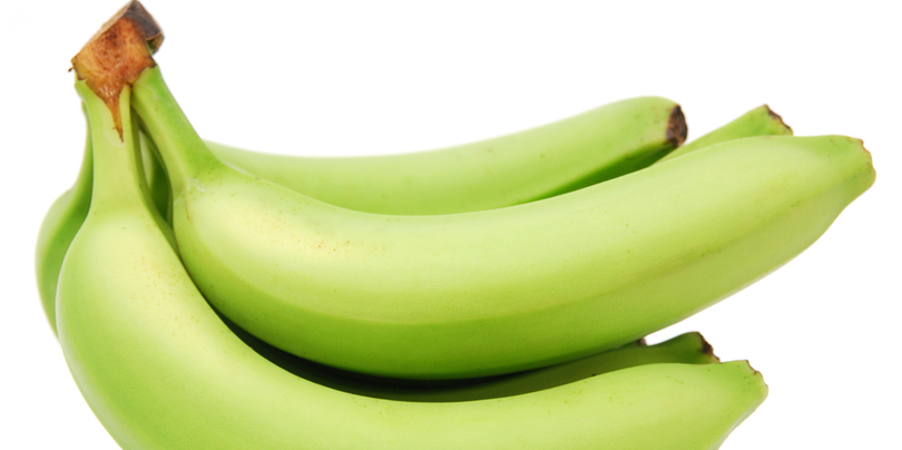 Underripe bananas